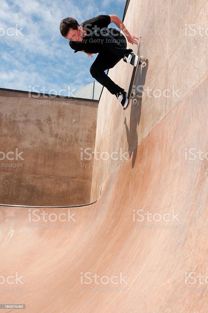 Wallride stock photo