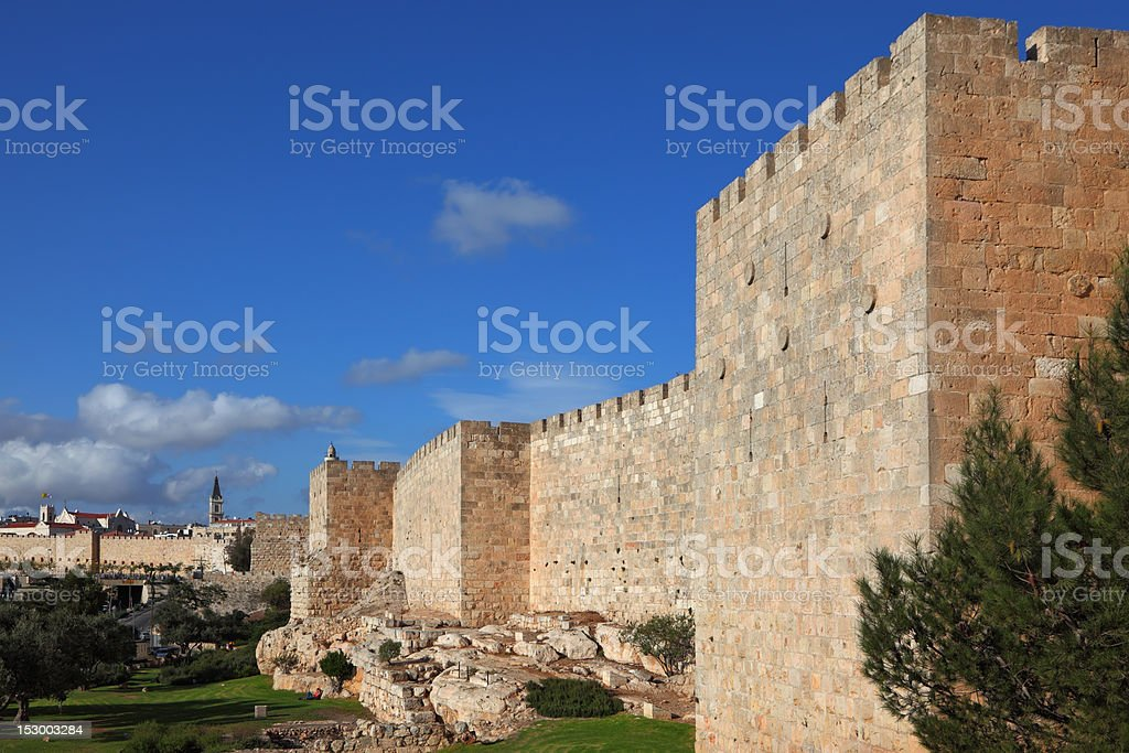 Walls  against the sky royalty-free stock photo
