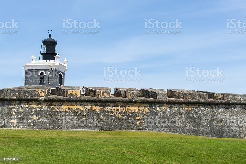 El Morro and lighthouse in San Juan stock photo