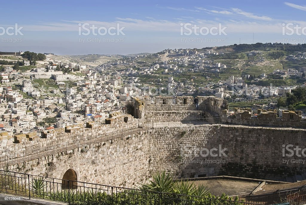 Walls  - East Jerusalem royalty-free stock photo