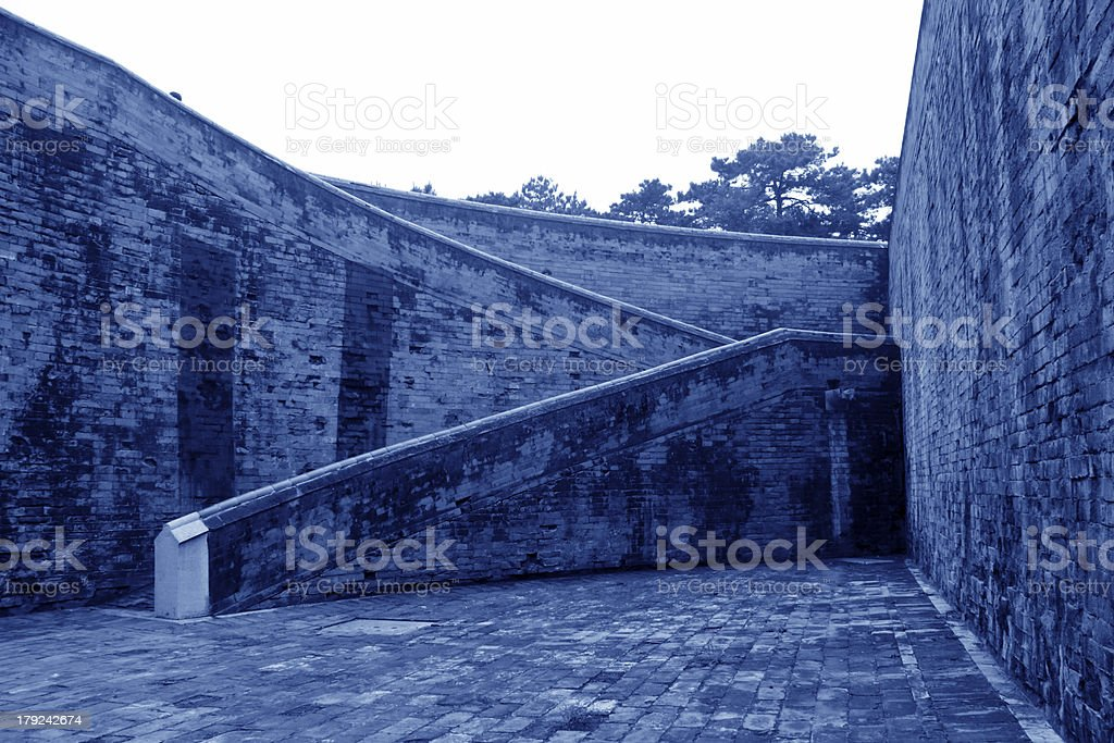 Walls landscape architecture in the Eastern Royal Tombs royalty-free stock photo