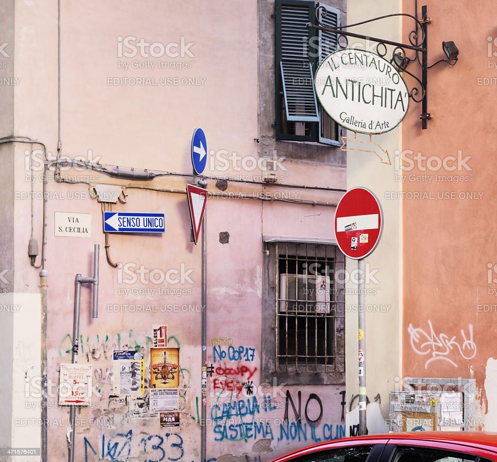 Walls like canvasses royalty-free stock photo