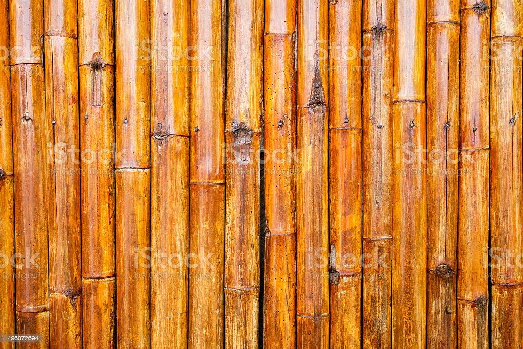 Walls made of bamboo stalks. stock photo