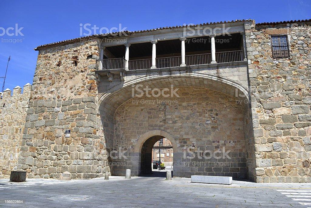 Walls of Avila (Spain) royalty-free stock photo