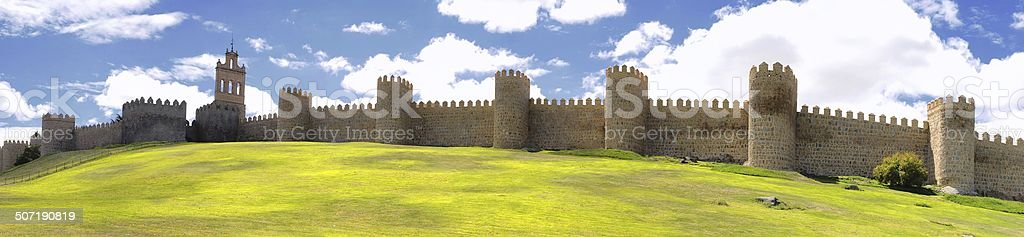 Walls of Avila. stock photo
