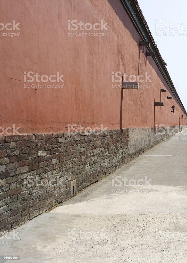Las paredes de la Ciudad Prohibida 4 foto de stock libre de derechos