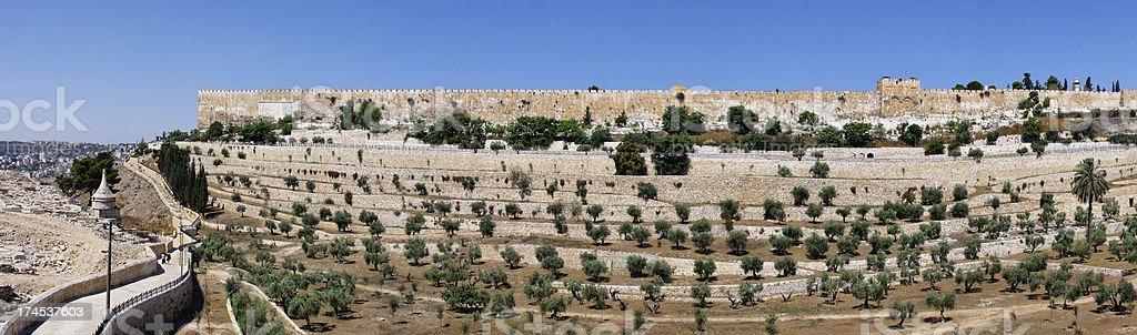 Walls of Jerusalem royalty-free stock photo