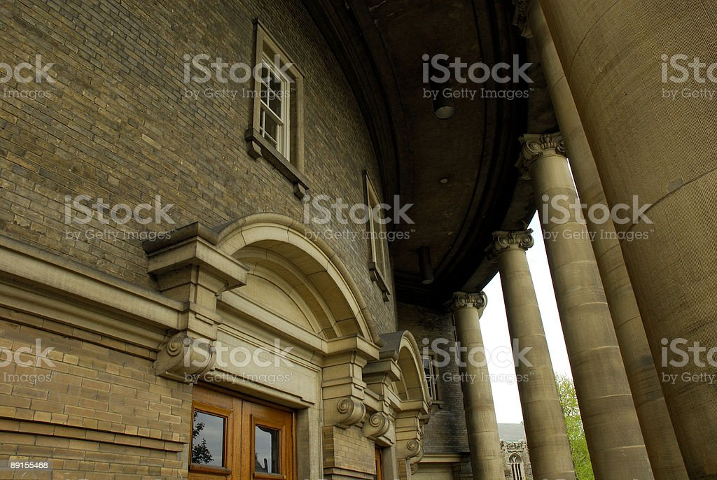 Walls of justice stock photo