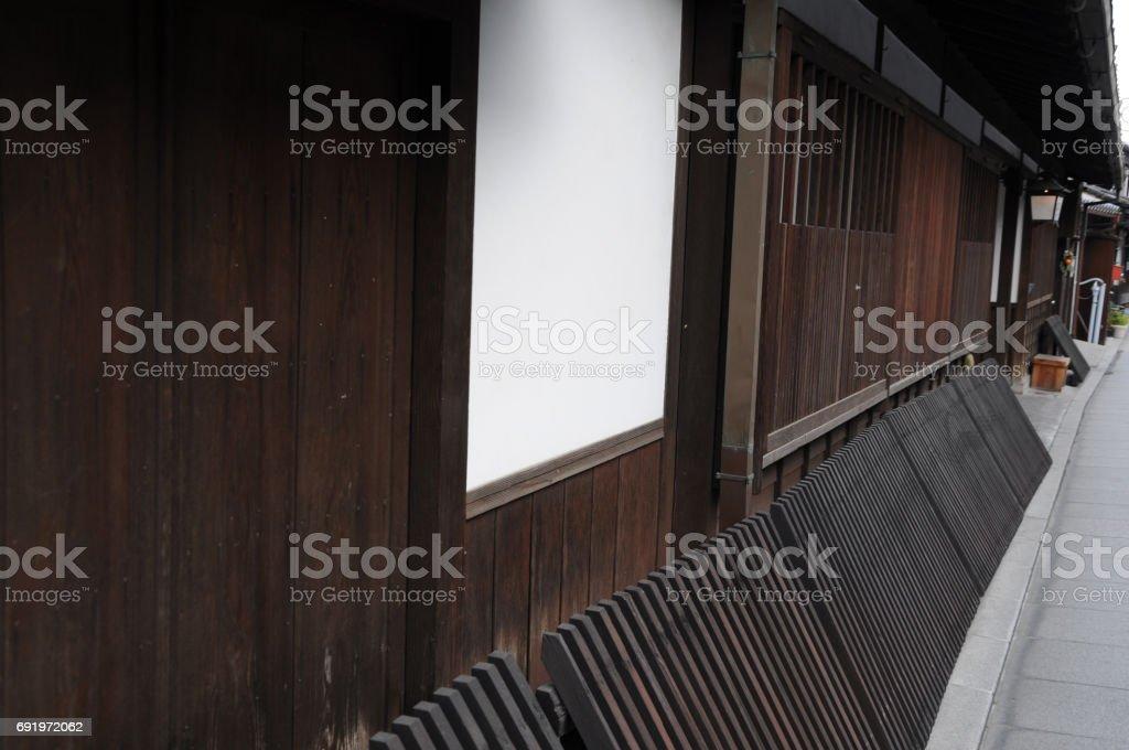 walls of kurashiki Bikan Chiku Scenic District, Okayama Prefecture in Japan stock photo