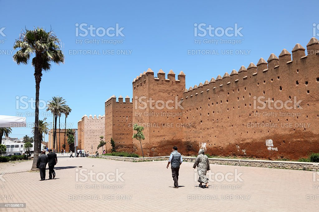 Walls of Rabat, Morocco royalty-free stock photo