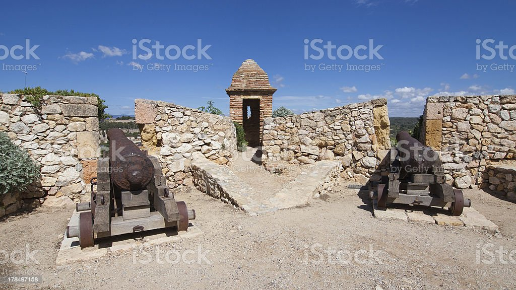 Walls of Tarragona royalty-free stock photo