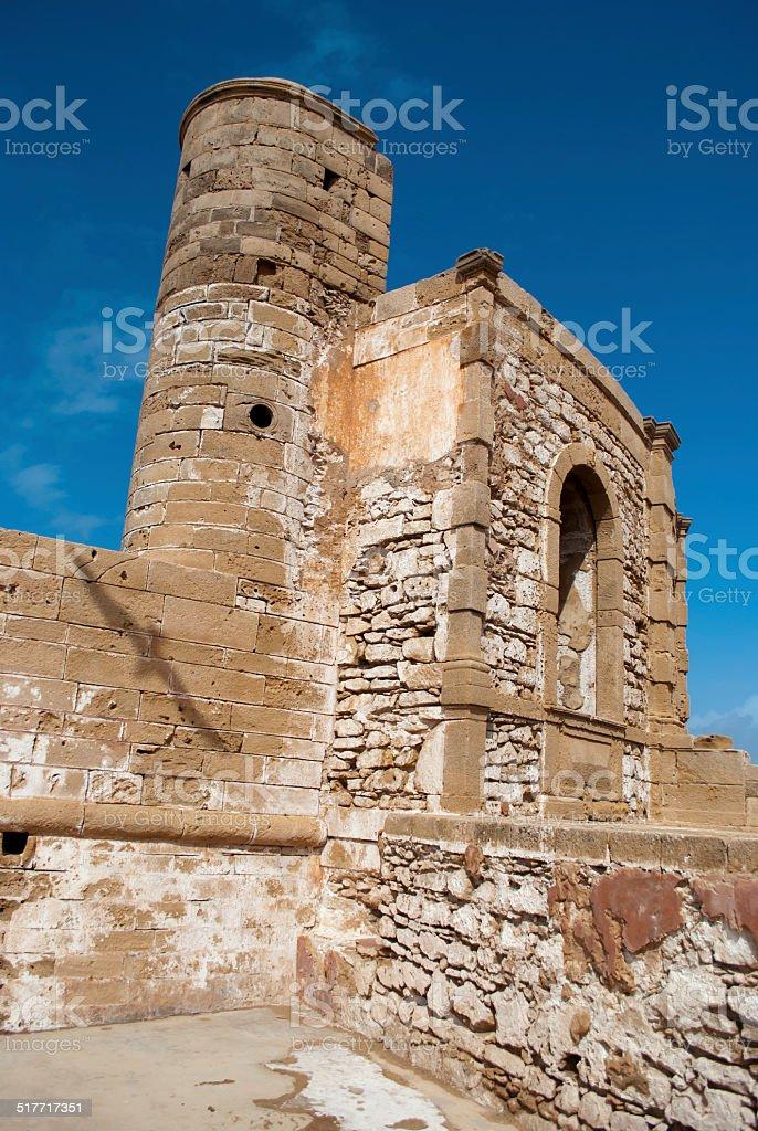 Walls of the medina in Essaouira stock photo