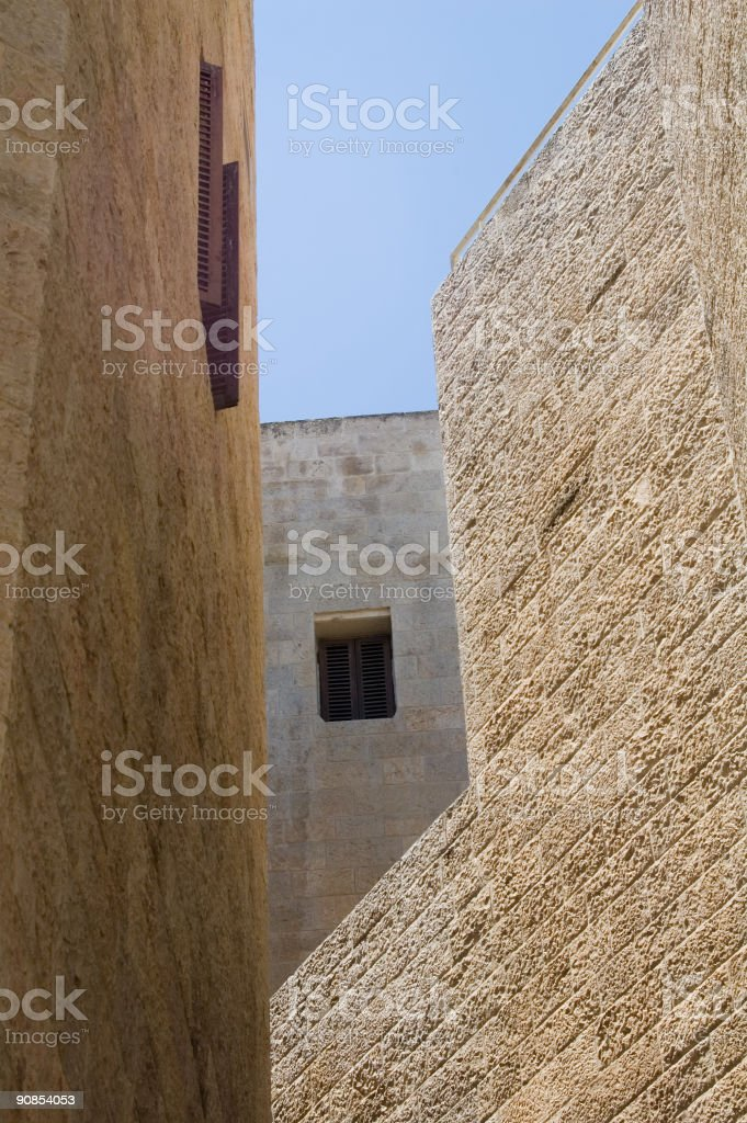 Walls of the old city royalty-free stock photo