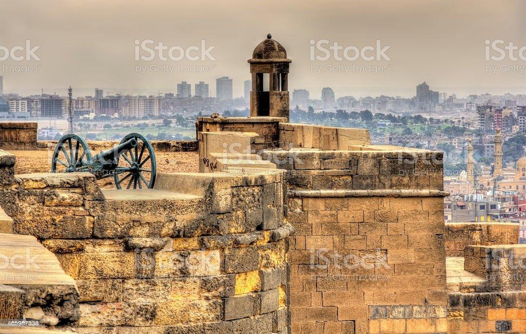 Walls of the Saladin Citadel of Cairo - Egypt stock photo