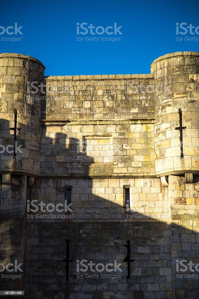 Walls of York stock photo