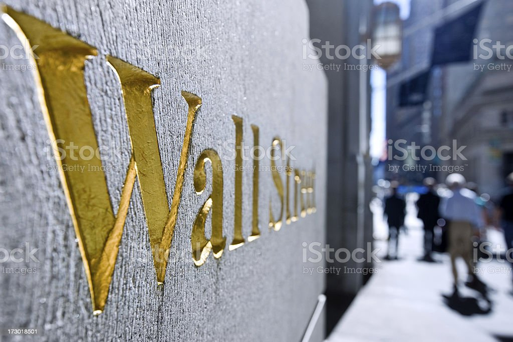 Wallstreet, New York stock photo