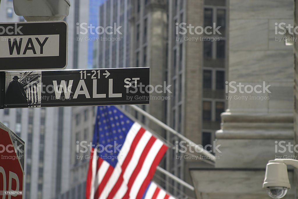 Wallstreet2 stock photo