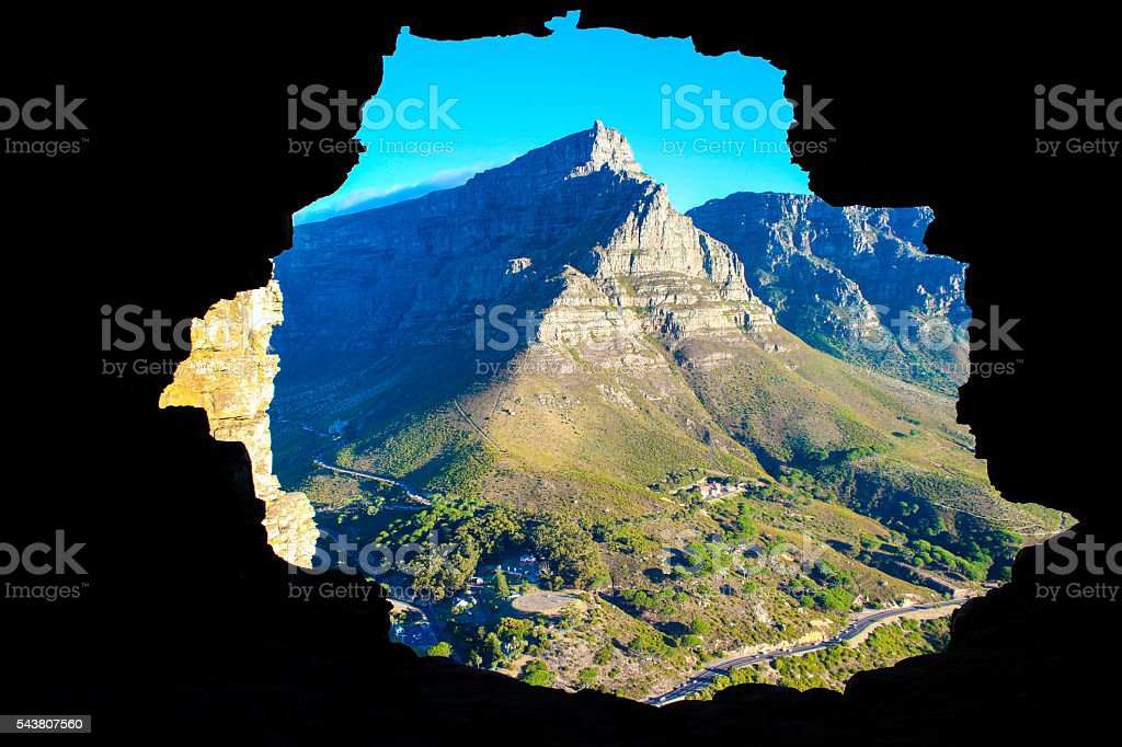 Wally's Cave - Lions Head stock photo
