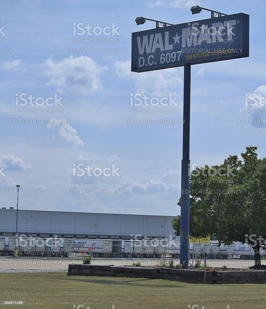 Walmart Distribution Center 6097 stock photo