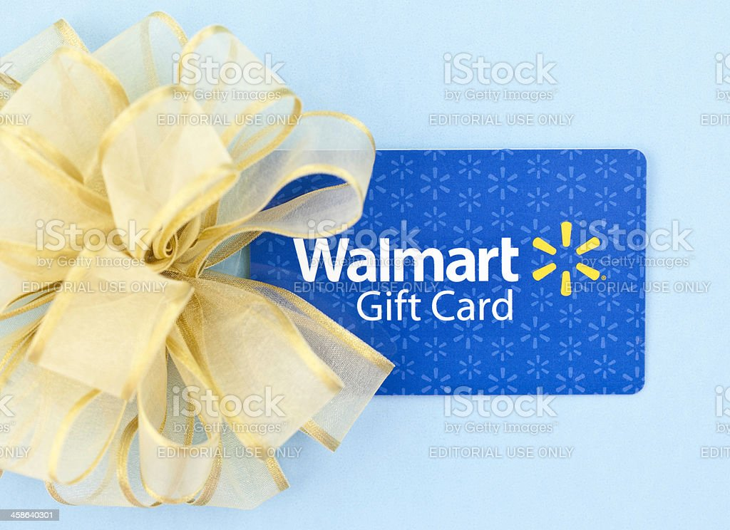 WalMart Gift Card with Bow stock photo