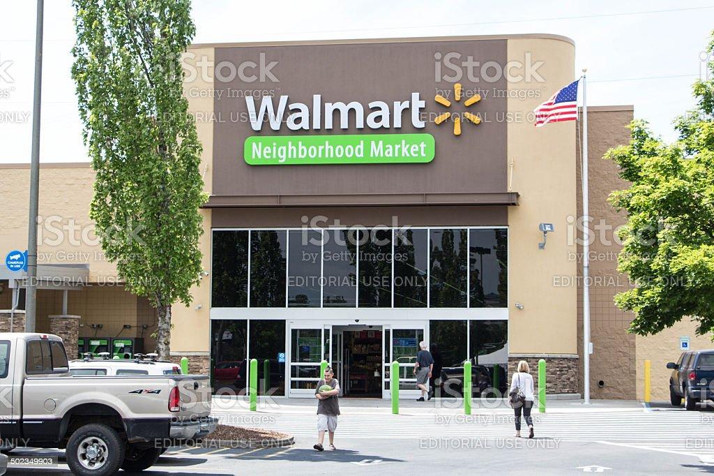 Walmart Neighborhood Market stock photo