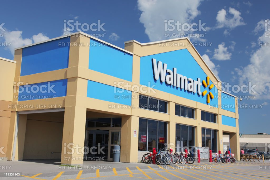 Walmart Store Building Exterior stock photo