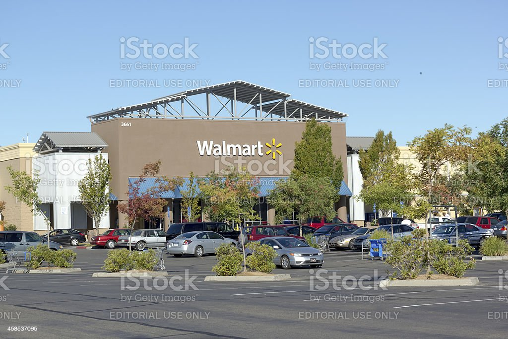 SACRAMENTO, USA - SEPTEMBER 13: Walmart store. stock photo