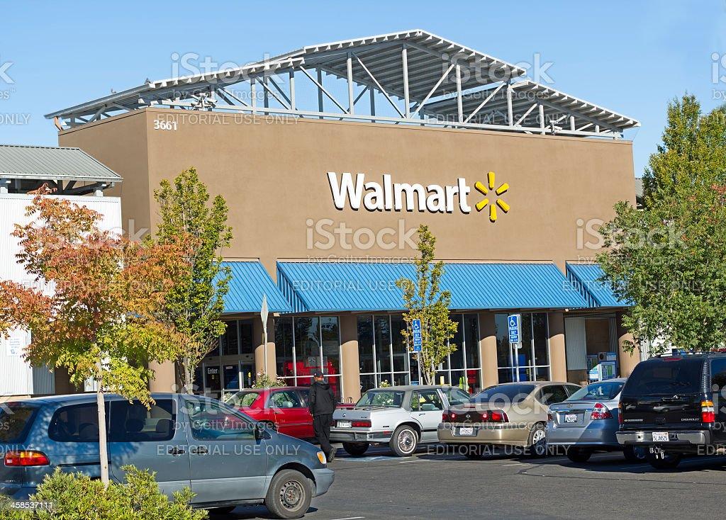 Sacramento, USA - September 23, 2013: Walmart store. stock photo