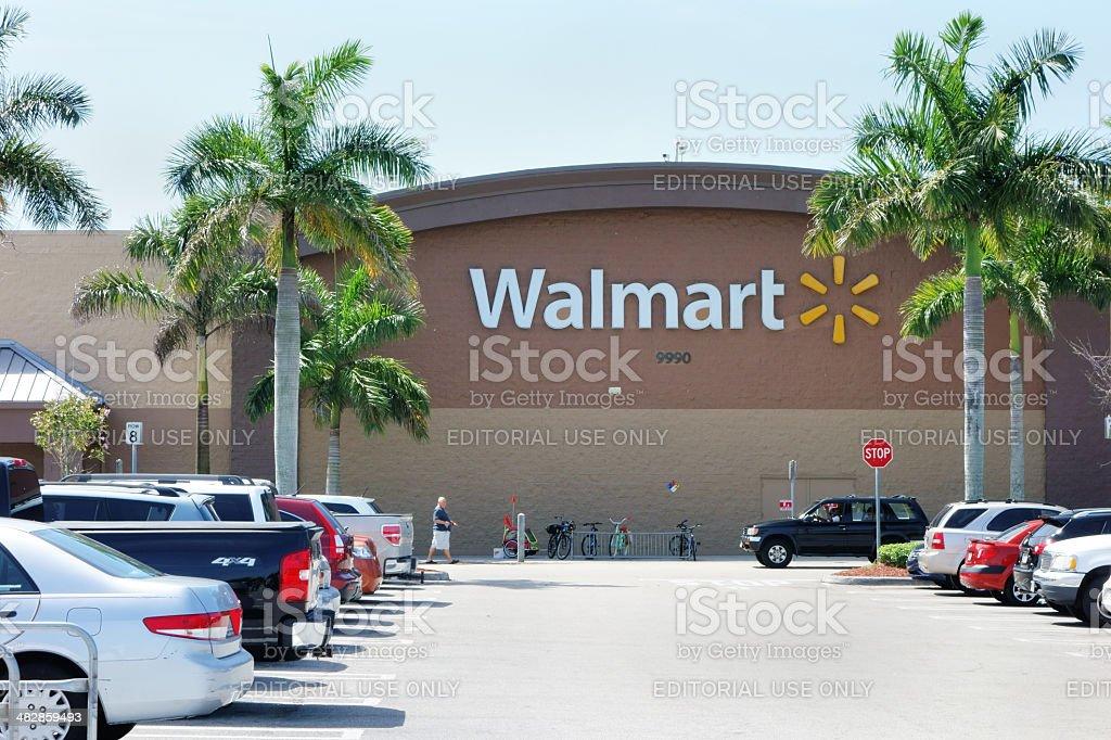 Walmart store stock photo