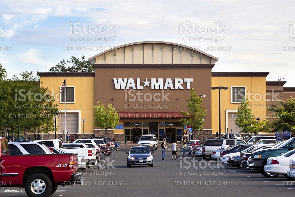 Wal-Mart Supercenter stock photo