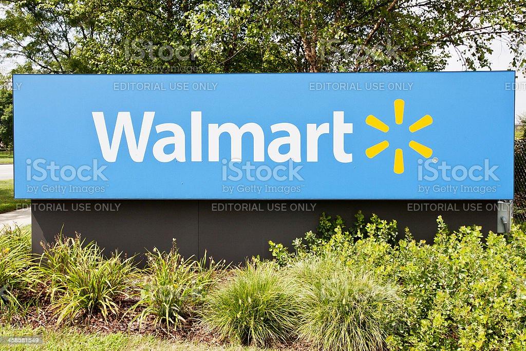 Walmart Supercenter Sign stock photo