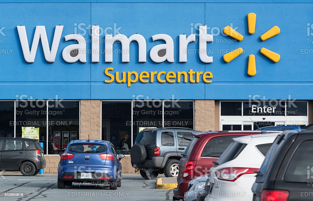 Walmart Supercentre stock photo