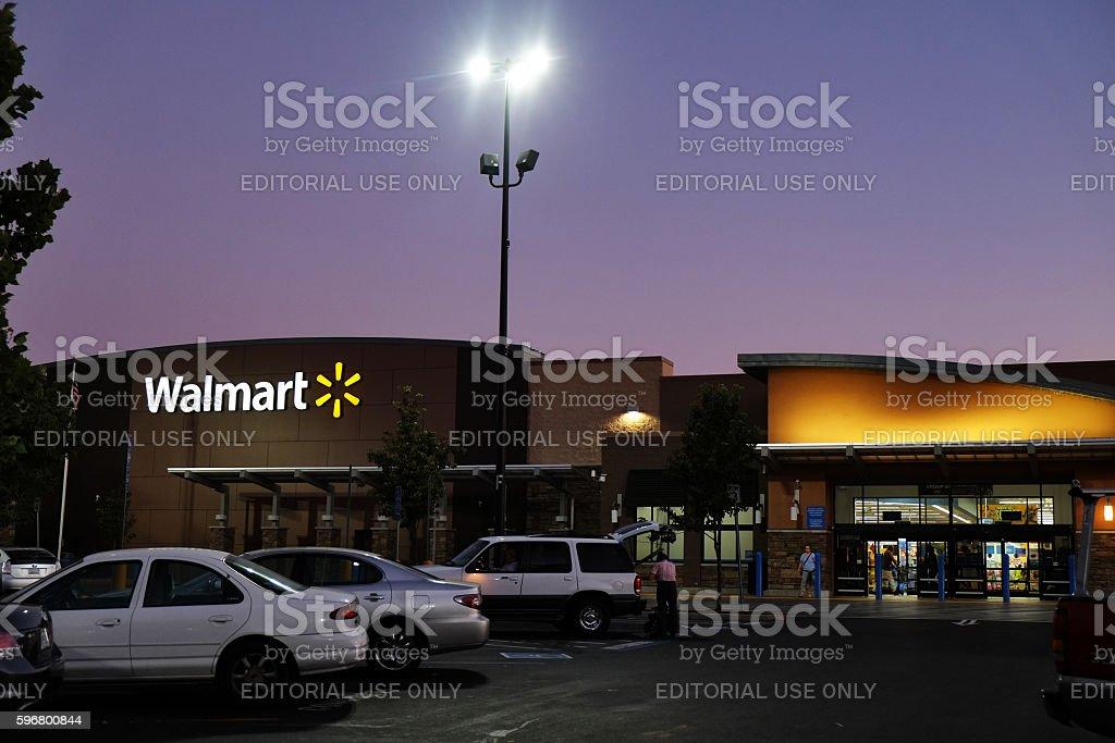 Wal-Mart Twilight stock photo