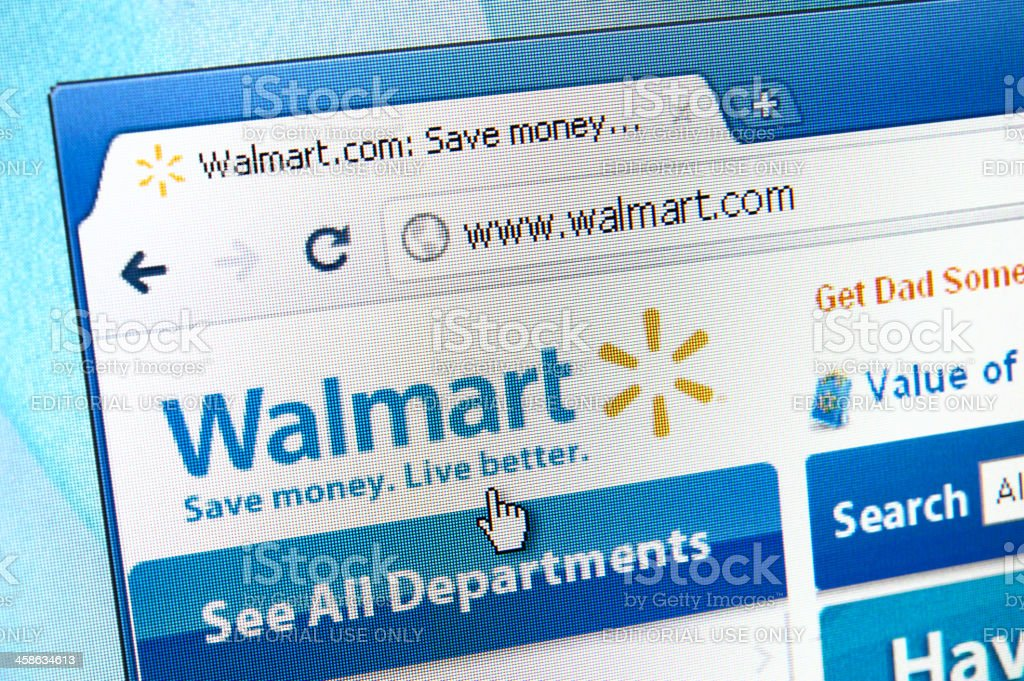Walmart webpage on the browser stock photo