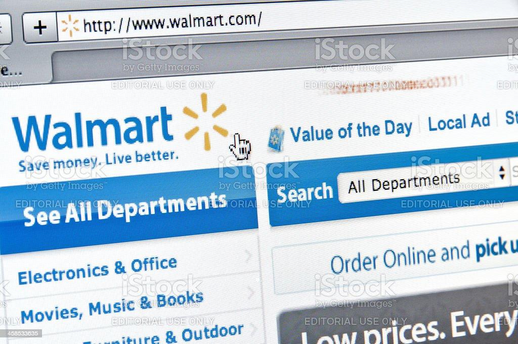 Walmart Website stock photo