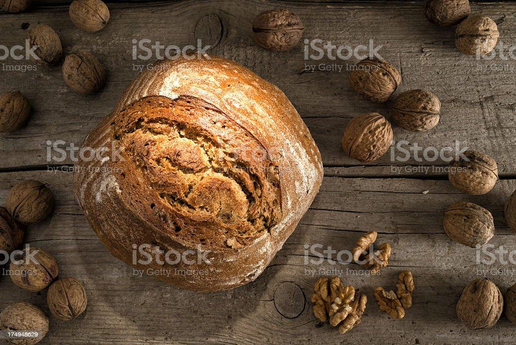 Walnut, Bread, Walnussbrot, Brot royalty-free stock photo