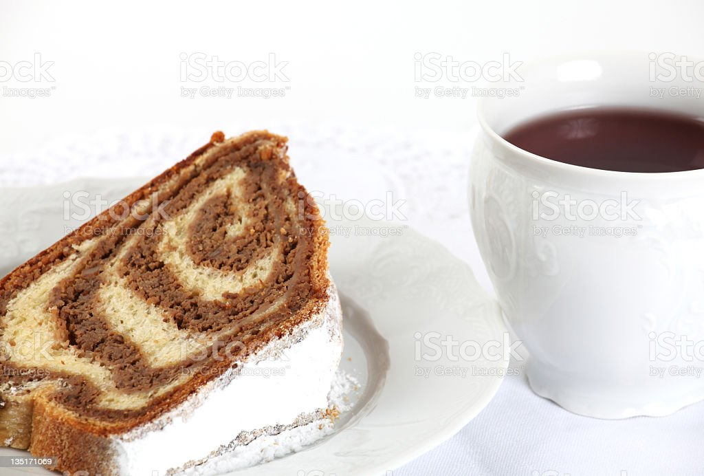 Walnut Cake and Tee stock photo