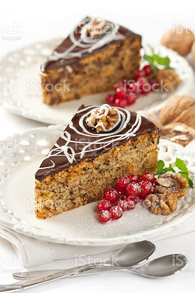 walnut cake royalty-free stock photo