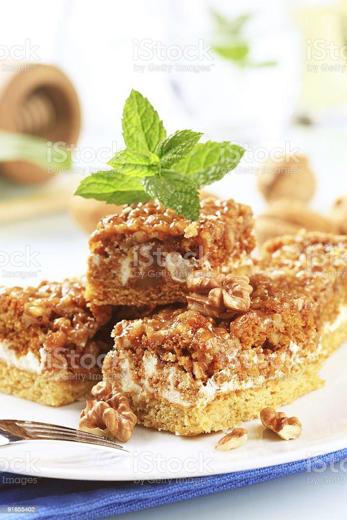 Грецкий орех торт Стоковые фото Стоковая фотография