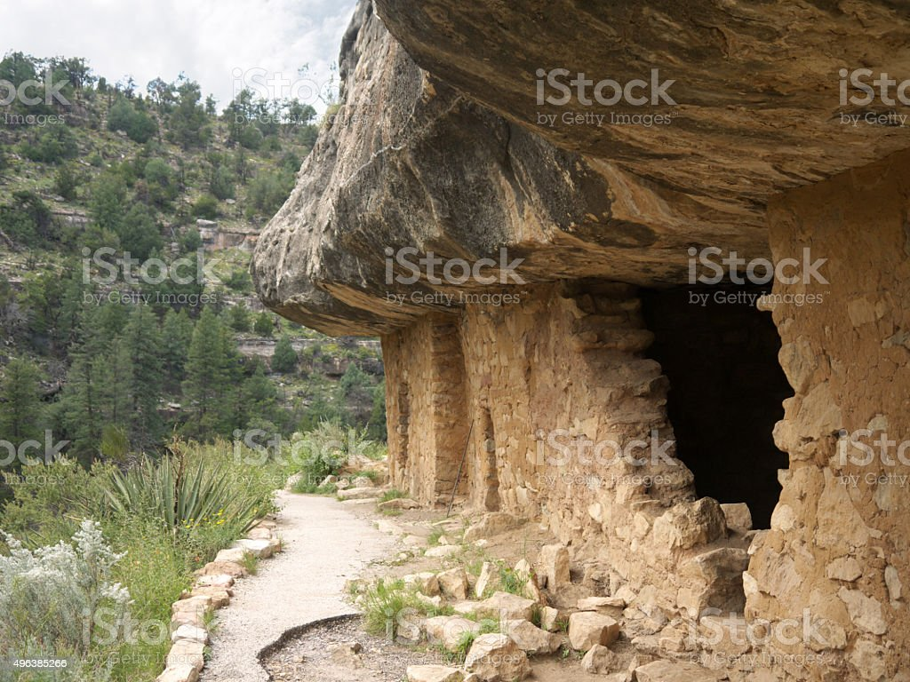 Cliff Dwellings stock photo