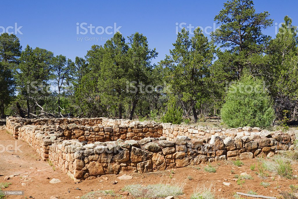 Walnut Canyon National Monument stock photo