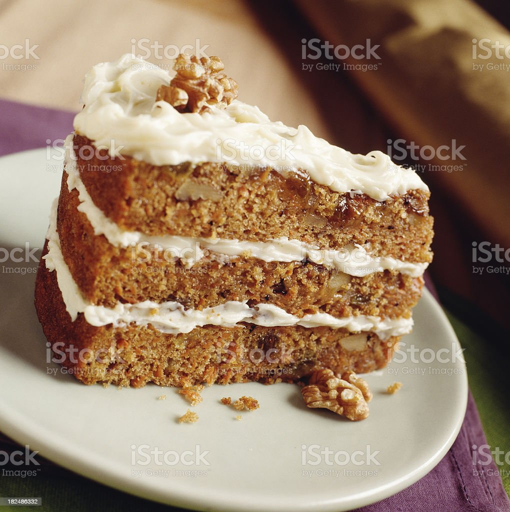 Walnut Carrot Cake royalty-free stock photo