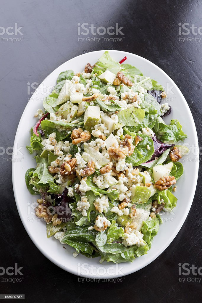 Walnut, Cheese and Apple Green Salad royalty-free stock photo