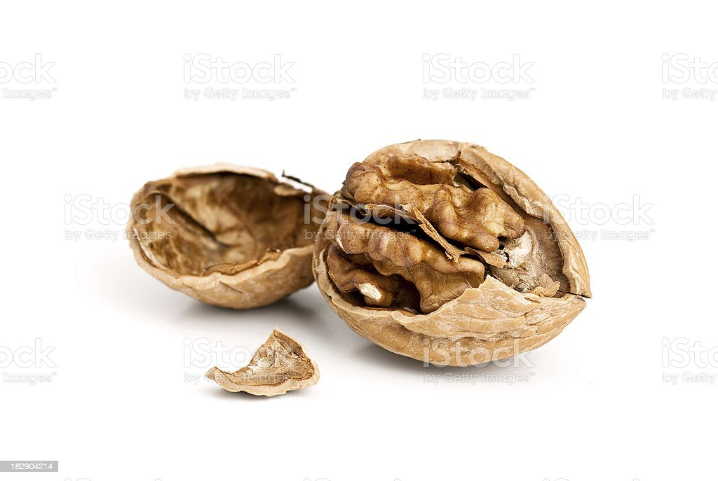 Walnut Cracked royalty-free stock photo