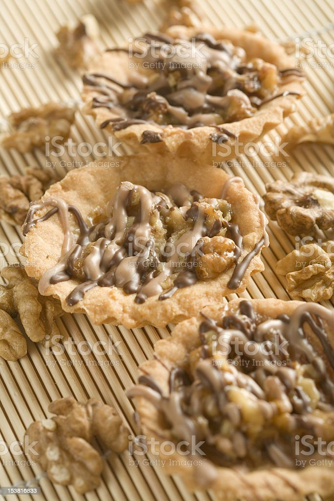 Walnut cupcakes royalty-free stock photo