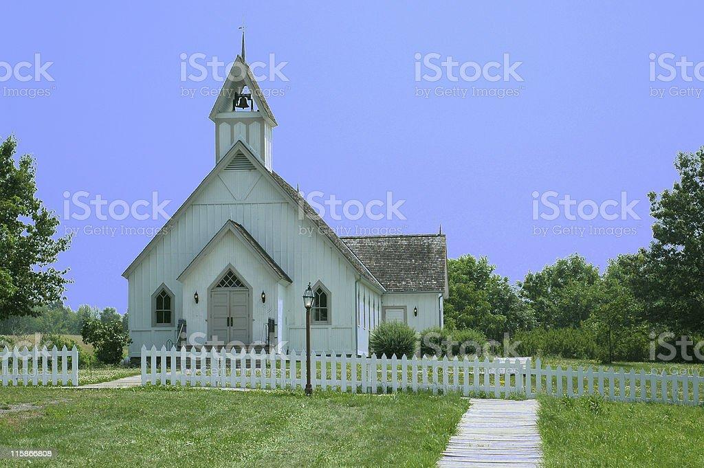 Walnut Hill church, Iowa royalty-free stock photo
