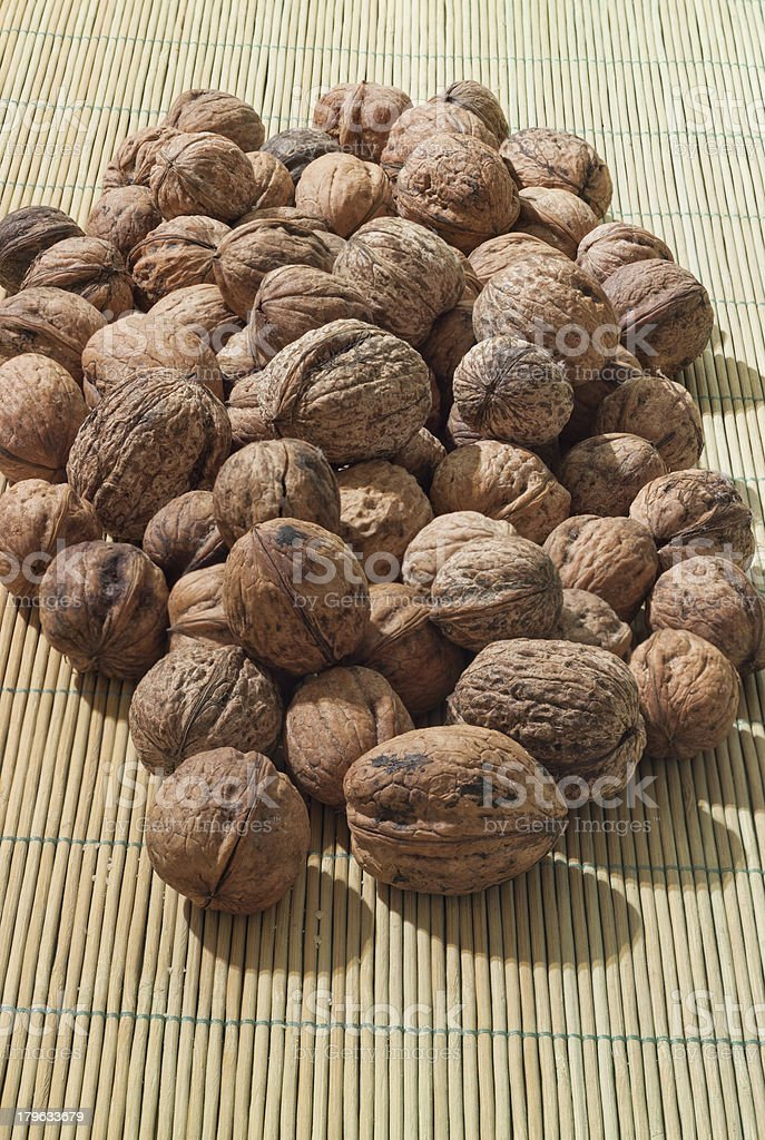 Walnut in shells royalty-free stock photo