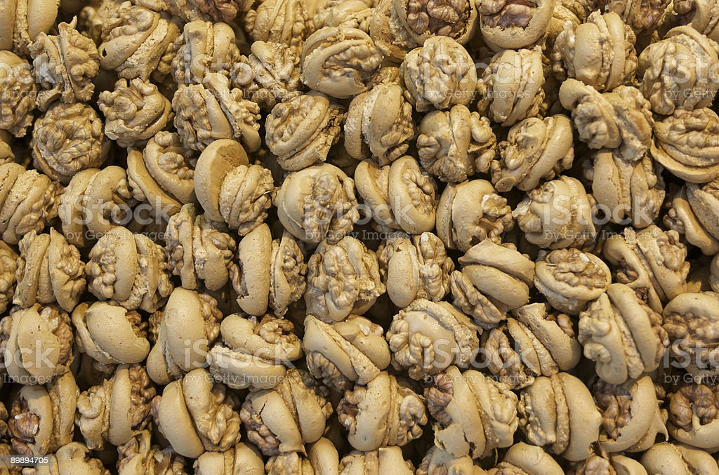 Walnut macaroons royalty-free stock photo