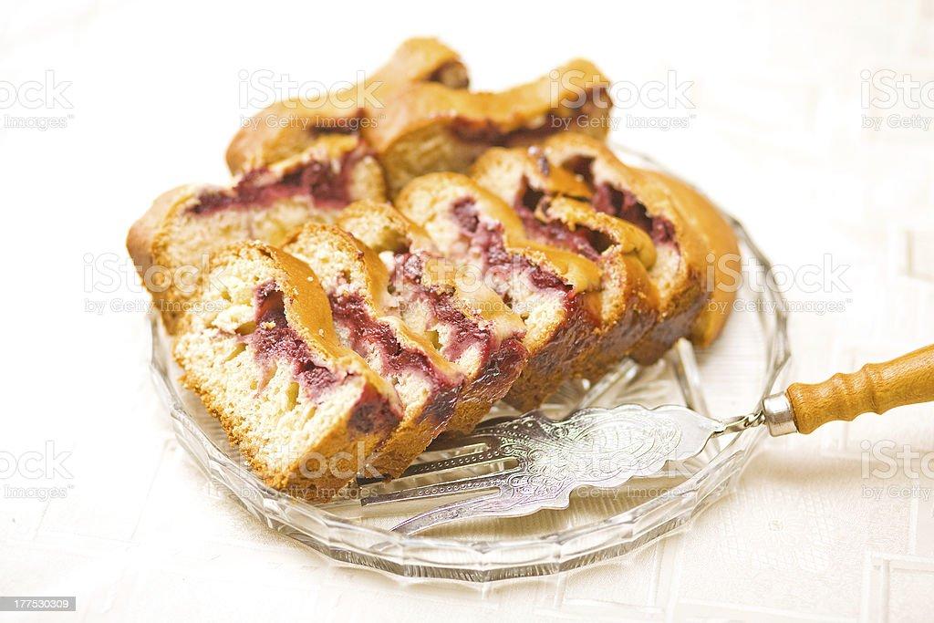 Walnut Pie royalty-free stock photo