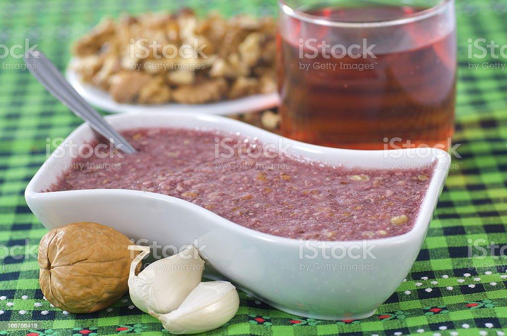 walnut sauce stock photo